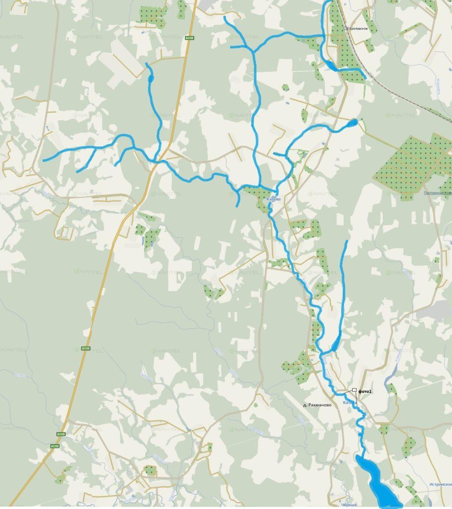 Карта реки Катыш
