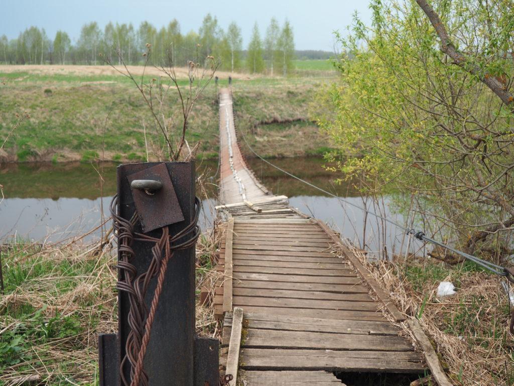 мост через Сестру в деревне Липино