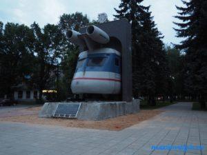 Памятник поезду в Твери — Реактивный паровоз!