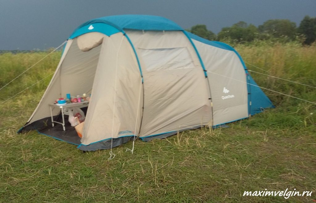 путешествие с палаткой на Волгу 1
