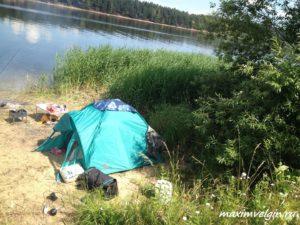 Отдых в палатках на Волге