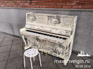 Пианино в Благовещенской башне в Йошкар-Оле