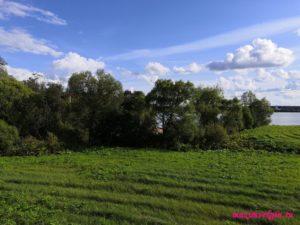 Вид на Рузское водохранилище