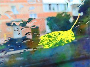 Лёгкой поступью дождя приходит осень, жёлтый лист прилип на мокрое стекло…