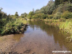 Москва река в районе деревни Рассолово Можайского района