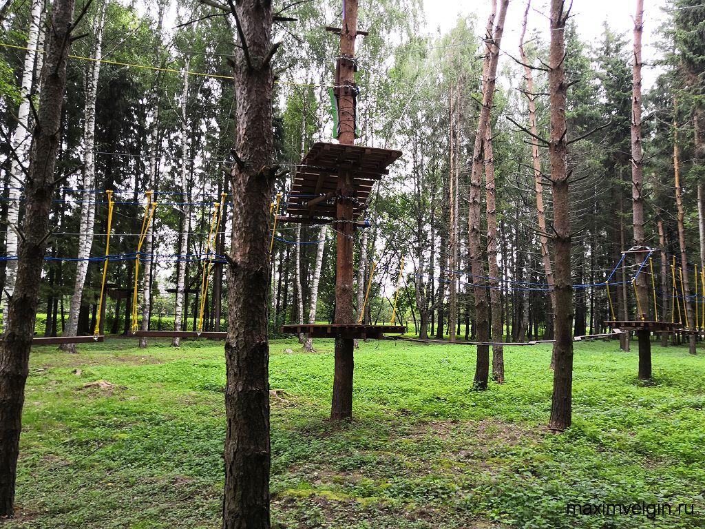 Веревочный парк в селе Вятское